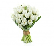 Tulips Bouquet -white