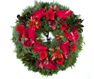 Funeral wreath Anthurium Lily