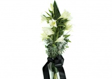 Funeral White Lilies Long