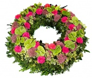 Funeral wreath green anturie