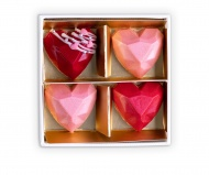 Chocolate pralines - hearts CHOKLID 4pcs